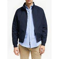 shop for John Lewis & Partners Shower Resistant Harrington Jacket, Navy at Shopo