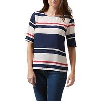 Sugarhill Boutique Honour Love Stripe Top, Cream/Navy
