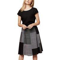East Mangalagiri Patchwork Skirt, Black
