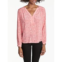 Pyrus Florence Silk Blouse, Starry Night Coral