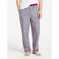 Calvin Klein Dylan Stripe Pyjama Bottoms, Blue/Red