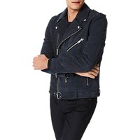 Selected Homme Nico Suede Leather Jacket, Vulcan