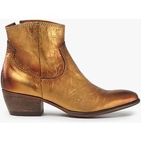 AND/OR Oro Western Ankle Boots, Gold