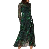 L.K. Bennett Roe Floaty Dress, Black/Green