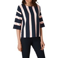 L.K. Bennett Floretta Stripe Jumper, Blue/Cream
