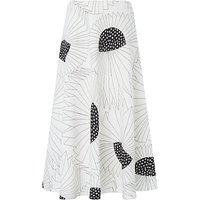 L.K. Bennett Meghan Printed Skirt, Black/White