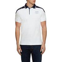 Hackett London Aston Martin Racing Shoulder Panel Polo Shirt, White