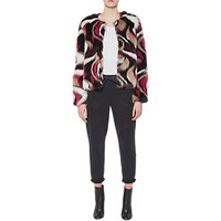 French Connection Lorna Faux Fur Long Sleeve Jacket, Multi