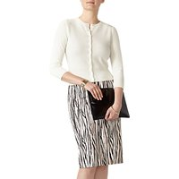 Pure Collection Pencil Skirt, Zebra Print
