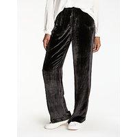 J Brand Ardon Wide Leg Velvet Trousers, Black
