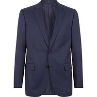 Jaeger Wool Birdseye Regular Fit Suit Jacket, Navy
