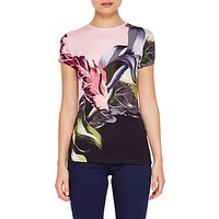 Ted Baker Judia Eden Placement T-Shirt, Black/Multi