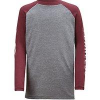 John Lewis Boys' Fearless Raglan T-Shirt, Grey
