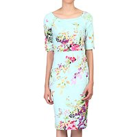 Jolie Moi Half Sleeve Floral Print Dress
