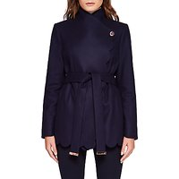Ted Baker Aastar Short Wrap Coat, Navy