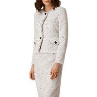 L.K. Bennett Laurel Tweed Jacket, Cream Tweed