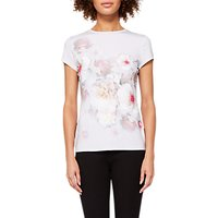 Ted Baker Chelsea Fitted T-Shirt, Natural/Multi