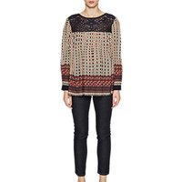 French Connection Lace Mix Smock Top, Multi