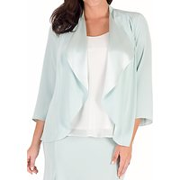 Chesca Crepe Shrug, Aqua/Multi