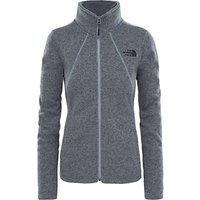 The North Face Crescent Full Zip Womens Fleece Jacket, Grey
