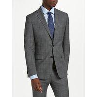 Richard James Mayfair Plaid Check Slim Suit Jacket, Grey