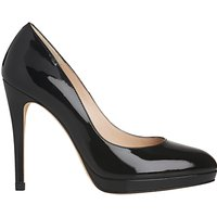 L.K. Bennett Sledge Platform Court Shoes, Black Patent
