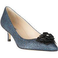 L.K. Bennett Portia Flower Pointed Toe Court Shoes, Powder Blue