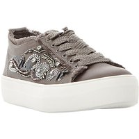 Steve Madden Greed Embellished Flatform Trainers