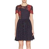 shop for French Connection Phoebe Round Neck Dress, Navy/Multi at Shopo