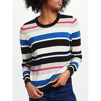 Collection WEEKEND by John Lewis Cashmere Striped Crew Neck Jumper, Multi