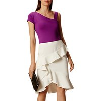 Karen Millen Soft Ruffle Pencil Skirt, Neutral