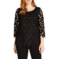 Studio 8 Lainey Lace Top, Black