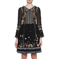 French Connection Bijou Stitch Dress, Black/Multi