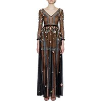 French ConnectionFrench Connection Bijou Stitch Maxi Dress, Black/Multi