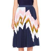 Ted Baker Evianna Mississippi Pleated Skirt, Navy