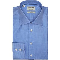 Chester by Chester Barrie Mini Houndstooth Tailored Shirt, Navy/White