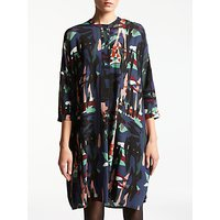 Kin by John Lewis Raw Collage Shirt Dress, Multi