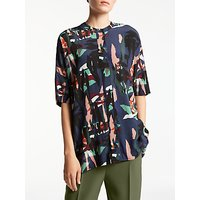 Kin by John Lewis Raw Collage Oversized Shirt, Multi