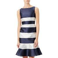 Adrianna Papell Faille Trumpet Skirt Dress, Midnight/Ivory