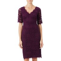 Adrianna Papell Rose Lace Sheath Dress, Mulberry