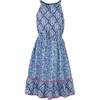 Fat Face Girls Edith Tile Print Maxi Dress, Blue