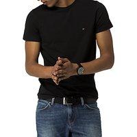 Tommy Hilfiger Stretch Cotton T-Shirt, Black
