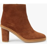 See by Chlo Stasya Block Heeled Ankle Chelsea Boots, Tan