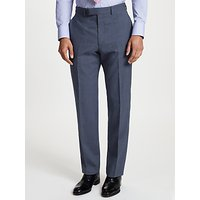 Chester by Chester Barrie Prince of Wales Check Suit Trousers, Blue