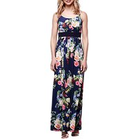 Yumi Floral Maxi Dress, Navy