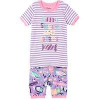Hatley Childrens Kitty Candy Applique Pyjamas, Purple