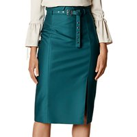 Karen Millen Belted Stud Pencil Skirt, Teal