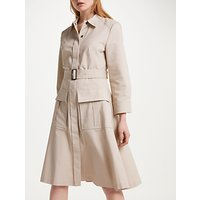 Winser London Cotton Twill Utility Dress, Stone