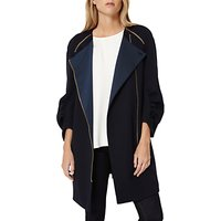 Damsel in a dress Suki Cocoon Coat, Navy