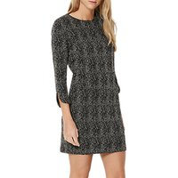 Damsel in a dress Mist Textured Jersey Dress, Ivory/Black